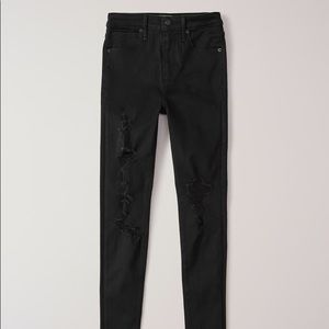 Abercrombie & Fitch Black High Waisted Jeans